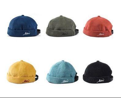 燈芯絨水兵帽