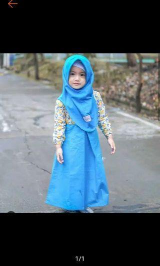 Gamis batik Anak plus jilbab original