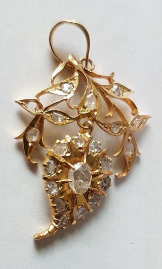 🚚 Peranakan golden pendant straits chinese