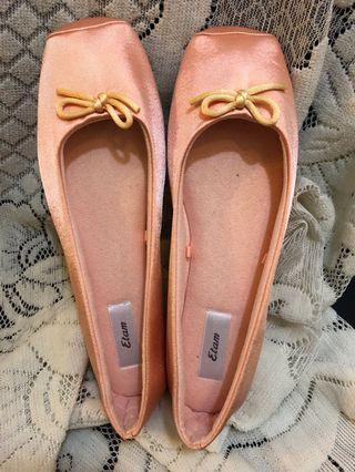 粉紅色平底鞋家居鞋