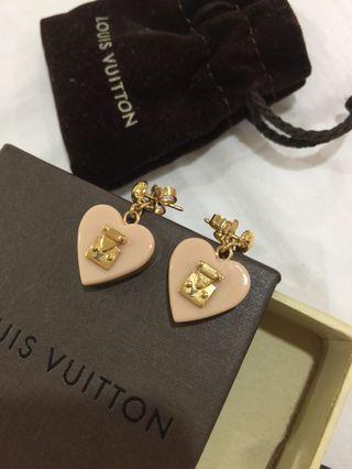 Authentic Louis Vuitton Lock Me Heart Earrings