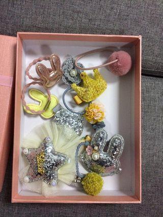 Korea hair clips * 14 pieces + free box
