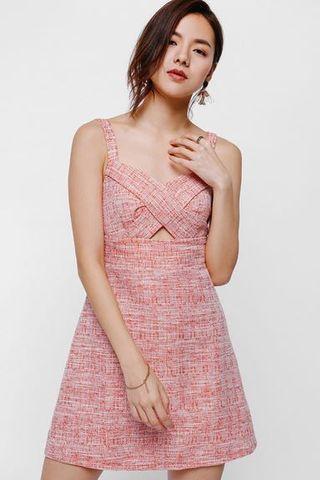 LB Duenda cut out tweed dress
