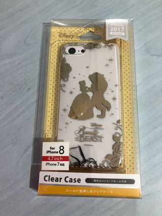 Disney Beauty and the Beauty iPhone 7/8 Gold Stamped Clear Case