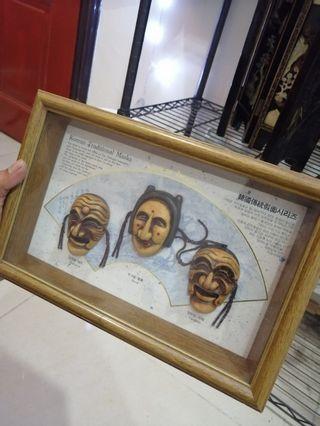 Antique korean mask frame