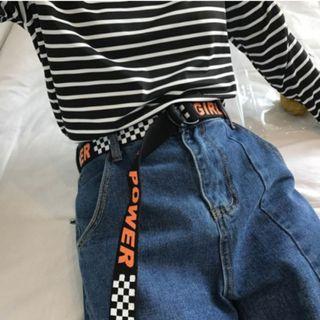 GIRL POWER checkerboard belt (PO)