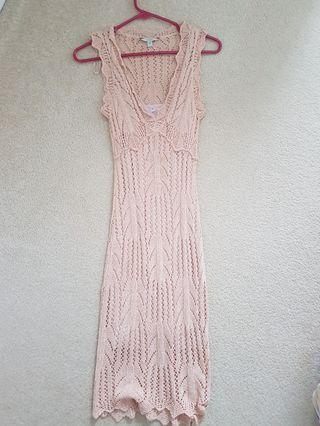 Guess pointelle dress, knee length, XS