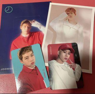 wts: monsta x jooheon official photocard/postcard