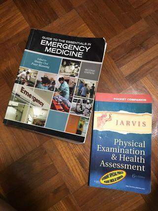 2 Texts emergency medication, physical examination Nursing text