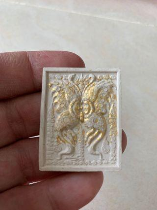 Butterfly amulet with nine tailed fox(white)