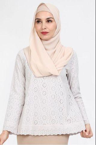 Poplook Ganya Eyelet Cotton Top