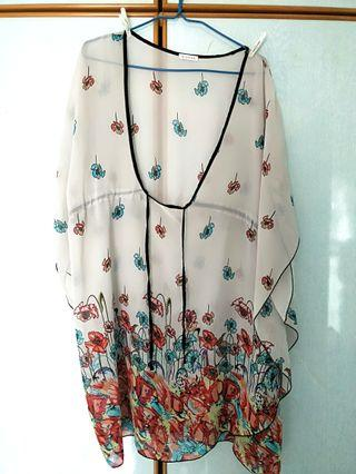 Floral outer wear dress