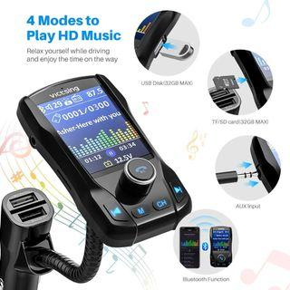 VicTsing (Upgraded Version) Bluetooth FM Transmitter for Car