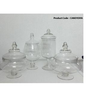 Rounded Glass Jars for Candy table or decoration