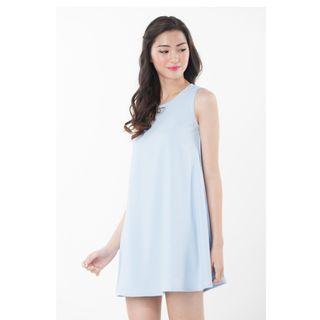 NINTH COLLECTIVE Athena Swing Dress in Sky Blue