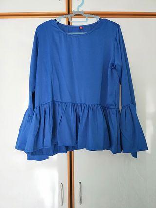 Blue babydoll top
