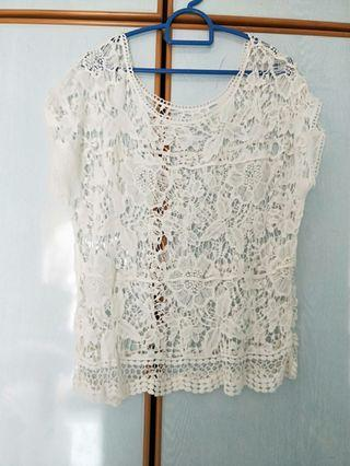 White lace outerwear