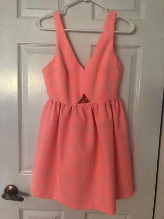 Zara pink dress size small