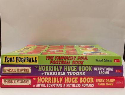 Horrible Histories Horribly Huge Books + Famously Foul Football