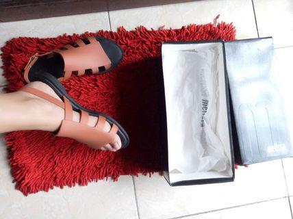Melissa Boemia Ad Sandal Brown Black