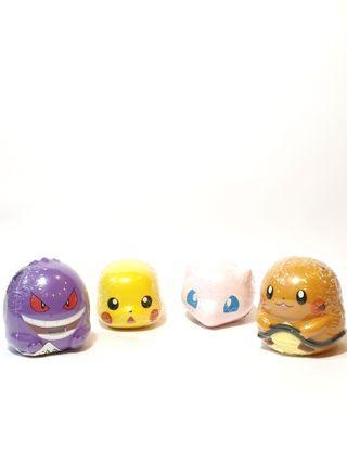 Pokemon Gashapon Capsule Toys Gengar Pikachu Dedenne Mew Set