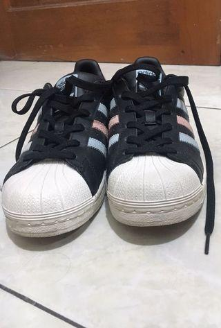 Adidas Originals Superstar W Black Leather Classic Woman Sneakers