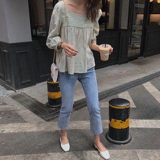 🚚 Light Denim Straight Cut Slim Jeans