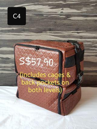 Double-level Bird Carrier Sling Bag (Design C4)