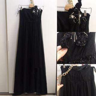 Long Dress Black Luire size S