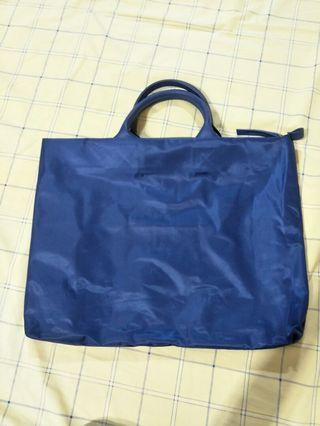 全新深藍色方形筆電包 手提包