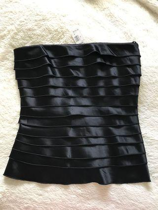 NEW - formal black strapless top - small