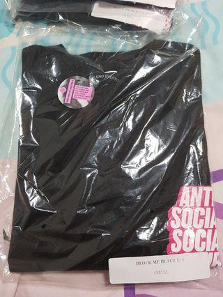 Anti Social Social Club ASSC Block Me Black Long Sleeve