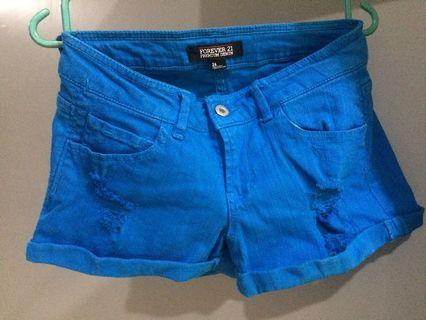 Forever21 royal blue shorts  #Aeonshahalam
