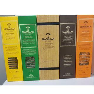 Macallan Edition Full Set (No. 1 to No.4)