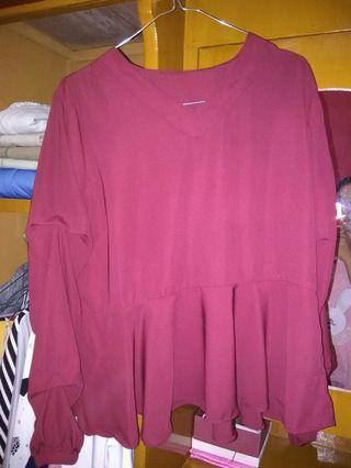 #BAPAU Baju Blouse Pink
