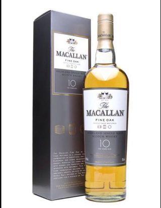 最底玩有年份Macallan (絕版 Macallan 10 年 fine oak)