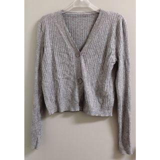 🔥全新 短版針織外套 可當上衣單穿 淺灰
