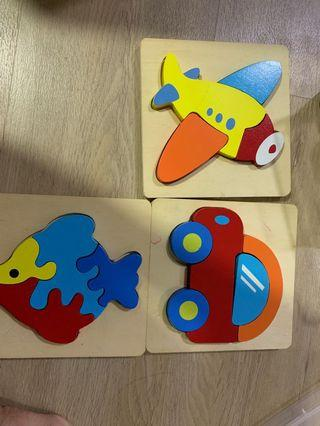 Wooden 🧩 jigsaw puzzles for toddlers