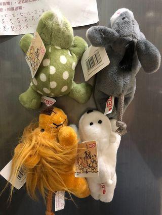 🚚 冰箱 磁鐵 動物玩偶