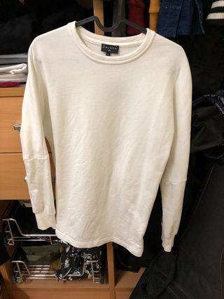 Plain White ZALORA Pullover
