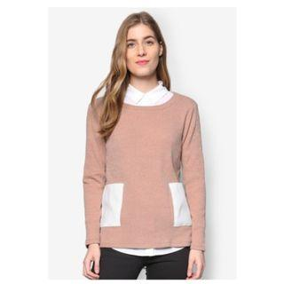 Something Borrowed Patch Pocket Sweater Top