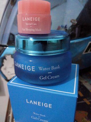 Laneige Water Bank Gel Cream + Laneige Lip Sleeping Mask