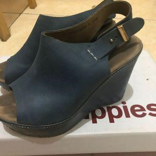 Hush Puppies Blue Wedges