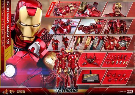 🚚 Hot toys Iron Man Mark 7 Diecast