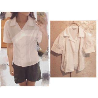 OL面試端莊襯衫白襯衫+灰窄裙一套