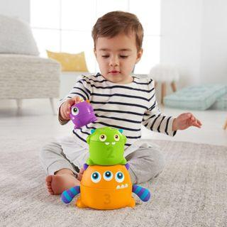 ~Ready Stocked~ Fisher-Price Stack & Nest Monsters, Multicolor