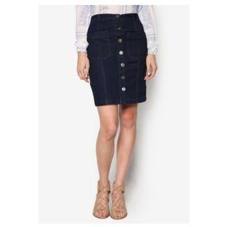Something Borrowed Utility Denim Skirt