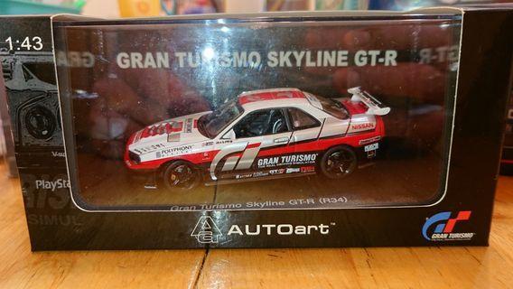 1/43 Autoart BISSAN SKYLINE GT-R R34 GRAN TURISMO VERSION