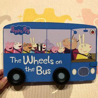 🚚 正版 Peppa Pig the wheels on the bus 輪子轉轉硬頁書