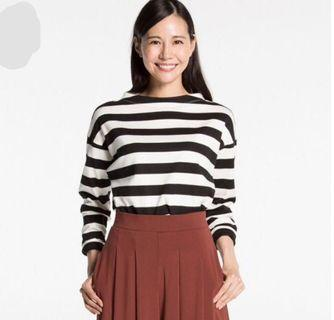 uniqlo striped Crop Top